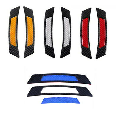 2Pcs/Set Car Door Edge Guard Reflective Sticker Tape Decal Safety Warning Useful