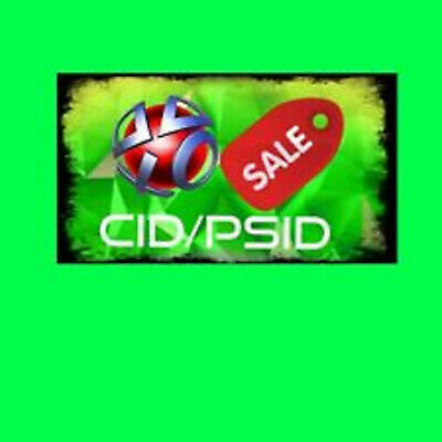 PS3 Console ID CID IDPS And PSID  100%  Private