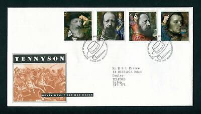 1992 GB FDC Alfred Lord Tennyson. Edinburgh First Day Cover. SG 1607-1610 Poetry