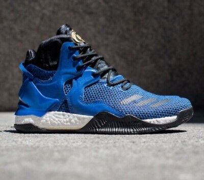 online store 86598 a8988 adidas D Rose 7 Boost Mens Sz 7 Basketball Shoes Black Blue Orlando Magic  BB8290