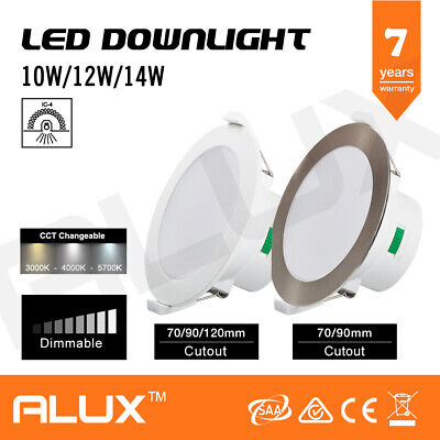 10W/12W/14W Led Downlight Dim Cct Colour Changeable Ip44 70Mm/90Mm/120Mm Cutout