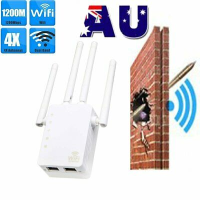 300Mbps/1200Mbps Dual-Band Wireless Extender WiFi Repeater Signal Booster Range
