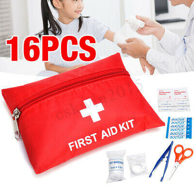 16PCS Survival First Aid Kit Emergency Bag Travel Home Office Car Outdoor SOS