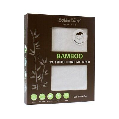 Bubba Blue - Bamboo Waterproof Change Pad Cover - White