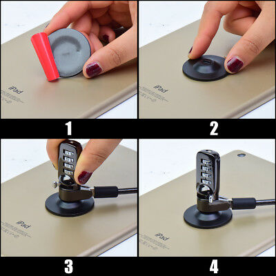 Adhesive Security Slot Anti Theft Universal Lock Plate for Laptop Iphone 4X #LK