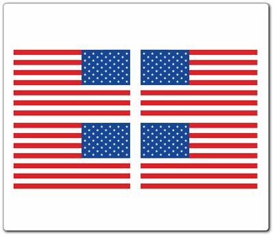 """TINY HOBBY STICKERS 1//2/"""" X 1/"""" COMBO 16 AMERICAN FLAG STICKERS"""