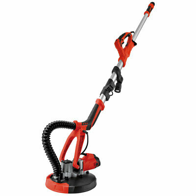 4FT Swivel Electric 5 Speed Drywall Sander 6PCS Sand Paper with LED Light Red