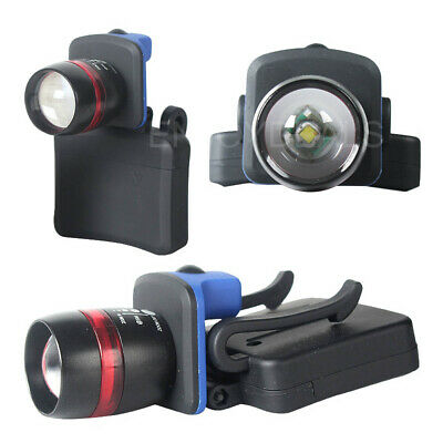 LED 5W Clip-On Head Torch Cap Hat Light Headlamp Fishing Camping Zoomable Torch
