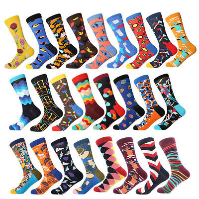 Men Combed Cotton Socks Colorful Fancy Novelty Casual Dress SOX For Wedding Gift