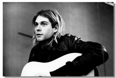 Poster Kurt Cobain Nirvana Pup Singer Star Room Art Wall Cloth Print 210