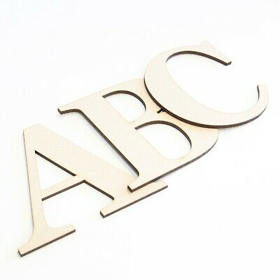 3mm Thick MDF//Birch LowerUpper *3 FOR 2* Georgia Bold Wooden Letters /& Numbers