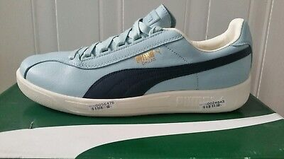 Puma Dallas Mens Shoes Trainers Blue White Leather Size UK6 EU39 RRP£60 New 1fd60ef3a