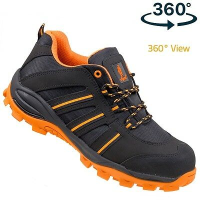 Urgent Lightweight Safety Shoes WORK BOOTS STEEL TOE CAP 261 S1 360º View