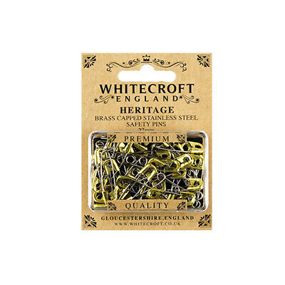 Whitecroft Heritage Brass Capped Safety Pins 27mm 89321