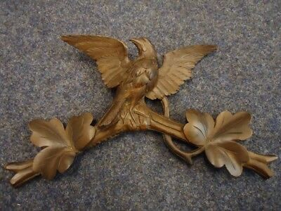 Antique Black Forest Hand Carved Cuckoo Plaque-Wood Carving-Rare Masterwork-