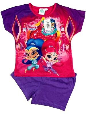 Official Shimmer and Shine Pyjamas Pajamas Pjs Children's Kids Girls Age 2 3 4 5