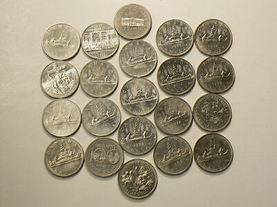 1968 to 1986 Canada $1 Dollar Set of 21 Unc #2704