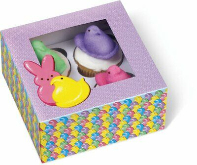 Set/2 Wilton 4 Cavity Spring Easter Peeps Muffin Window Boxes Bakery Cupcake NEW