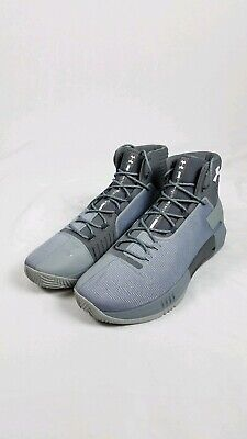 2edbb42c2e1f MENS UNDER ARMOUR UA Drive 4 TB Basketball Sneakers Grey Gray Size ...