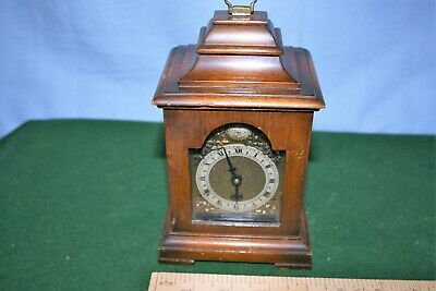 A Quality Vintage Miniature Bracket Clock By Davall In Working Order