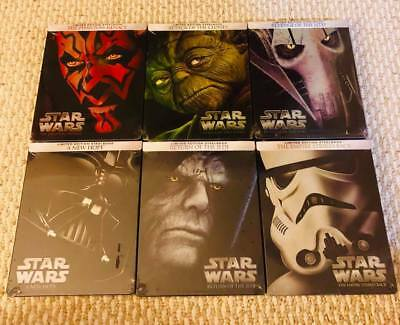 Star Wars Episodes 1,2,3,4,5,6 1-6 Blu-Ray Steelbook (Limited Edition) New