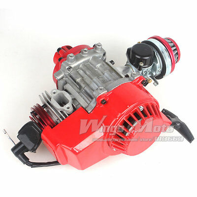 Engine 49cc 52cc Big Bore Pocket Bike w/ Performance Cylinder CNC Engine Cover