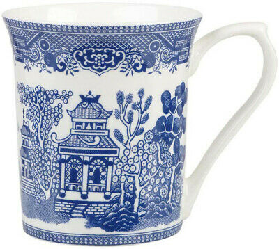 Churchill / Queen's Blue Willow Mug Royale (Set Of 6) Bone China - New/Unused
