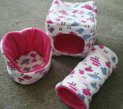 Guinea pig cube , Cuddlecup and Tunnel set