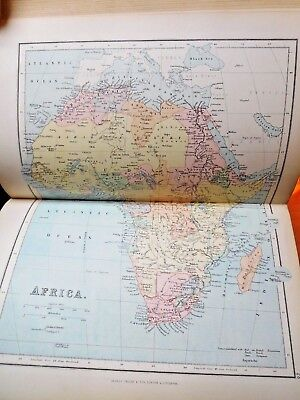 1887 Philips Comprehensive Atlas Of Ancient & Modern Geography - 60 Maps  Hughes