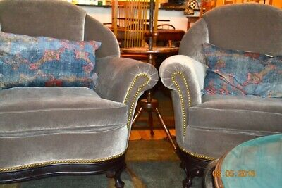 Upholstered Arm Chairs Vintage 1930's totally re-upholstered
