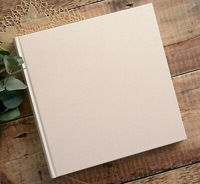 Small Ivory Traditional Book Bound Photo Album. 30 pages / 60 sides