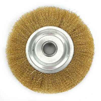 Copper Wire Wheel For Adhesion Brass Brush For Bench Grinder Metal Polishing