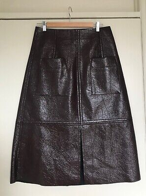 42ffcf47d4 Mijeong Park burgundy fake patent leather skirt No 6 Store / Need Supply  size M
