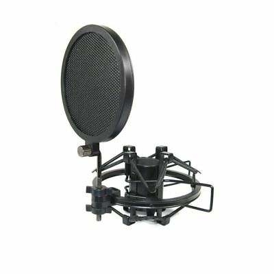 Practical Layer Studio Microphone Wind Screen  Filter Swivel Mount Mask Shied