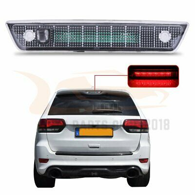 For 2005-2010 Jeep Grand Cherokee Clear Lens Third 3RD Brake Led Stop Light Lamp