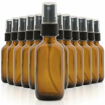 6 Pack Empty Glass Bottles 15 ml Cleaning Solutions Amber Mist Spray Containers