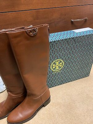 472df49d1c57 NEW TORY BURCH Sidney Boot Hi Veg 31441 Penny Brown Leather 9 ...