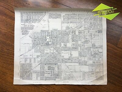 ANTIQUE c.1910 LINEN-BACKED ROBERT S. FREARSON MAP PLAN WESTERN UNLEY ADELAIDE