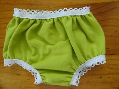 Baby Born Dolls Undies / Knickers In Green With White Elastic...