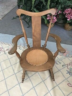 Antique Wooden Rocking Chair Stylish.  REDUCED!! UNUSUAL RARE