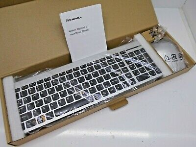 e298a209980 NEW IBM Lenovo ZTM600 Windows Linux Silver Wireless Slim Keyboard Mouse  Combo US