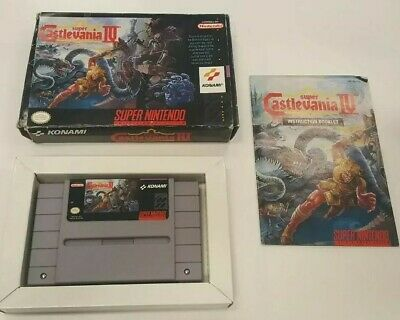 Super Castlevania IV (SNES, 1991) Complete with Box, Game and Manual Authentic