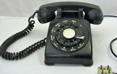 Vintage 1955 Bell System Western Electric Black  ROTARY DIAL TELEPHONE PHONE