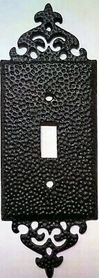 Vintage Style Switch Plate - Black Single Toggle (NOS)