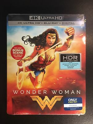 WONDER WOMAN: Best Buy Exclusive Steelbook [4K UHD+Blu-Ray+Digital HD] BRAND NEW