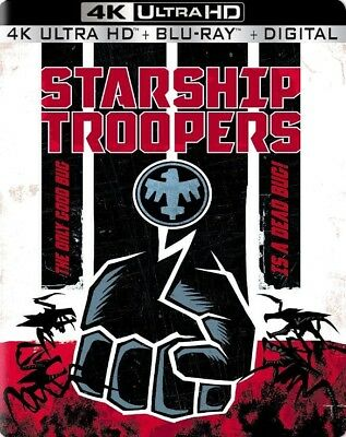 Starship Troopers SteelBook Best Buy Exclusive (4K UHD/ Blu-Ray/Digital) *NEW *