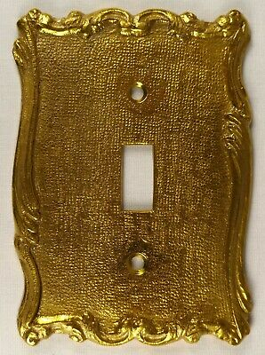Vintage Brass Switch Plate - Single Toggle (NOS)