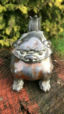 Beautiful Rare Antique Vintage Chinese Oriental Decorative Metal Dragon *