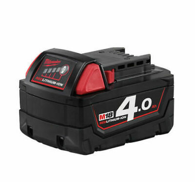 MILWAUKEE BATTERIA LITIO ORIGINALE 18V 4.0Ah mod. M18 B4 LITIO GARANZIA ITALIA