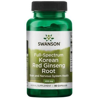 Red Korean Ginseng Capsules 400mg x 90 Caps Red Panax Extract Swanson